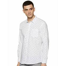 Neostreak Men's Printed Slim fit Casual Shirt (neoshirtprnt-3150-whinav- White 42)