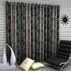 Fashion String 4 Pieces polyresin Window Curtain Set, 5 feet Long, Green