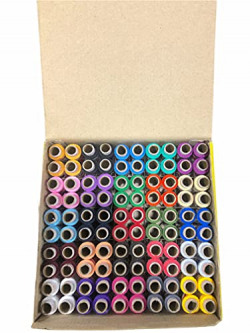 Kavmart Polyester Thread Sewing 150 Mtr/100 Pcs in One Box Mix Colours Threads Spools (Ladies Special)
