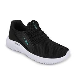 Campus Men's Tyson Blk/T.Blu Running Shoes-9 UK (43 EU) (CG-120)