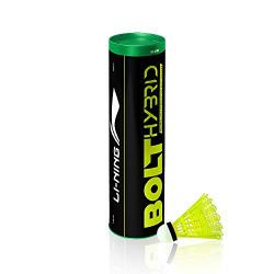 Li-Ning Bolt Hybrid (6 in 1) Nylon Badminton Shuttlecocks (Yellow)