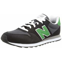 new balance Men's 500 Black/Green Sneaker-9.5 UK (GM500TN1)