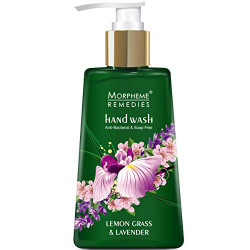 Morpheme Remedies Hand Wash Lemongrass & Lavender, Anti Bacterial, 250ml - Soap Free Hand wash