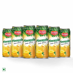 Del Monte Pineapple Fruit Drink, 6 x 240 ml