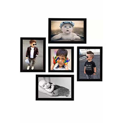 Mom's Creations Photo Frame Set Pack 5(5 * 7=4) (5 * 5=1)
