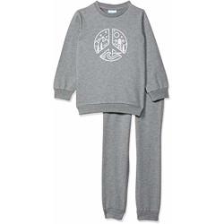Blink Street Unisex-Child Regular fit Tracksuit (BS-1310-36_Grey Melange_3/4YR)