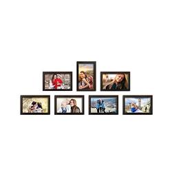 Amazon Brand - Solimo Set of 7 Photo Frames (6 x10 -7pcs), Brown