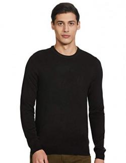 Marks & Spencer Men's Synthetic Cardigan (T30/7028M_Black_L)
