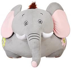 Amazon Brand - Jam & Honey Elephant Kid Seater, Ash Grey