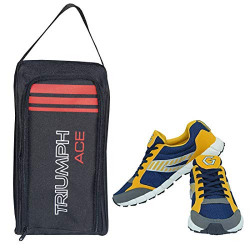 Gowin Nx-2 Yellow/Blue Size-8 with Triumph Shoe Carry Bag Ace Kb-802 Black/Red