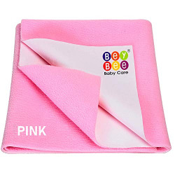 BeyBee Premium Quick Dry Mattress Protector Baby Cot Sheet Extra Large (Pink)