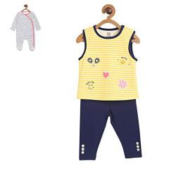 Mini Klub Baby Girl's Cotton A Clothing Set (92IEGVP409_Multi_9-12M)