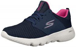 Skechers Women's Go Run Focus-Approach NVY/Htpnk Shoes-7 UK (10 US) (15162-NVHP)