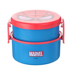MINISO Marvel- Double-Layered Bento Box,Spider-Man