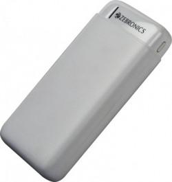 ZEBRONICS 20000 mAh Power Bank (12 W, Fast Charging)(White, Lithium Polymer)