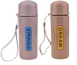 AVMART Pack of 2 Dream Multi Color Water Bottle Leak Proof, Strong Body 300 ml Bottle(Pack of 2, Multicolor, Plastic, Glass)