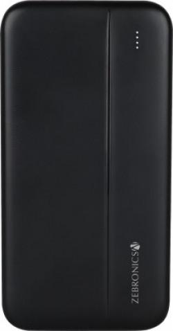 ZEBRONICS 10000 mAh Power Bank (12 W, Fast Charging)(Black, Lithium Polymer)