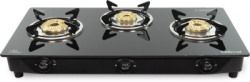gilma Rio 3 burner Glass Cooktop Stainless Steel Manual Gas Stove(3 Burners)