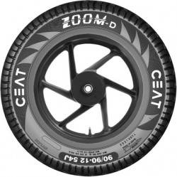 CEAT 102074 ZOOM D TL 54J 90/90-12 Front & Rear Tyre(Street, Tube Less)