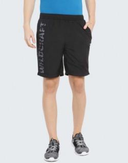 Wildcraft Solid Men Black Sports Shorts