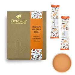 Octavius Indian Masala Chai Ready Tea | Economy Pack - 50 Sachets| On the Go Instant Tea Premix | Masala Premix Tea Powder | Easy to Prepare, Perfect For Work, Travel, Home | Masala Flavor Milk Tea