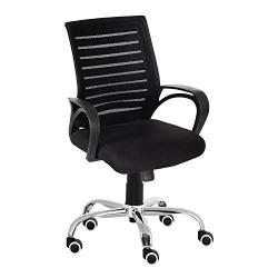 Da URBAN Boom 6 Medium Back Office Revolving Chair (Dark Black) (1PC)