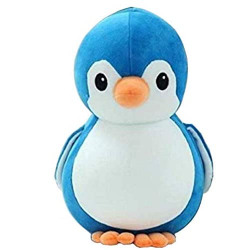 HUG 'N' FEEL SOFT TOYS Penguin Teddy Bear Soft Toy | Birthday Gift for Girls/Wife, Boyfriend/Husband, Soft Toys Wedding/Anniversary Gift for Couple Special, Baby Toys Gift Items, ( Blue 32 cm )