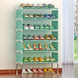 FurnCentral Metal Shoe Stand(6 Shelves, DIY(Do-It-Yourself))
