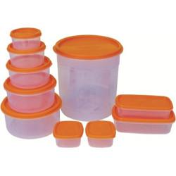PRINCEWARE  - 7475 ml Plastic Utility Container(Pack of 10, Orange)