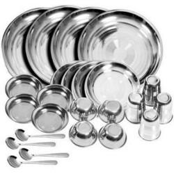 E-TREE Pack of 24 Stainless Steel Dinner Set