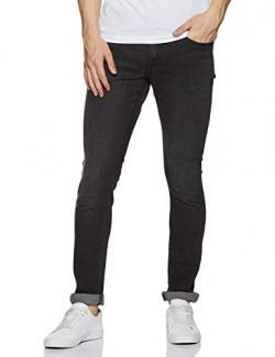 Wrangler Men's Skinny Fit Jeans (W38477W22SMU_Jsw-Black_32W x 33L)
