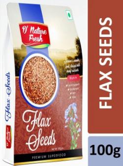 D NATURE FRESH Brown Flax Seeds(100 g)