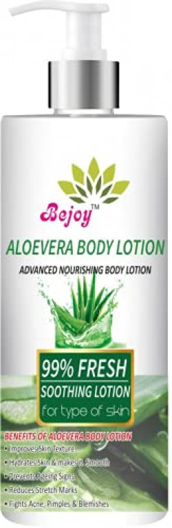 Bejoy Aloe Vera Multi-Vitamin Body Lotion - Light Quick Absorbing - For Normal to Oily Skin - No Parabens, Silicones, Color, Mineral Oil & Synthetic Fragrance - 200mL (200 ml)