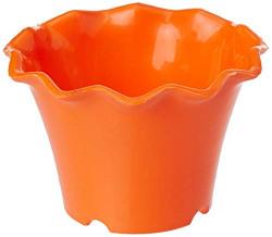 Gardens Need 100% Virgin Plastic Orchid Pot -04 (100)   Set of 10 Planter, (11cm x 11cm x 7cm, Orange)