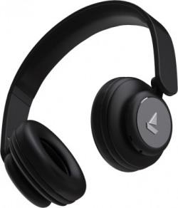 boAt Rockerz 450 Bluetooth Headset(Luscious Black, On the Ear)