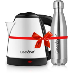 Greenchef Kettle1.5 Electric Kettle(1.5 L, Silver)