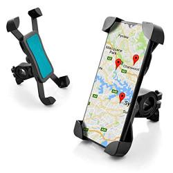 JUTEK Car Mobile Holder for Dashboard and Windshield 360 Degree Rotation, Easily Adjustable Long Neck, Car Mount Holder with Smart Technology for All Smartphones (Black)