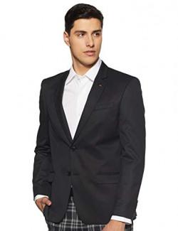 Arrow Men's Notch Lapel Slim Fit Blazer (AREB0026A_Black_40)