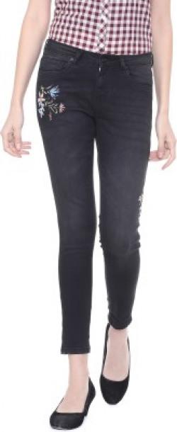 PEOPLE Slim Women Black Jeans