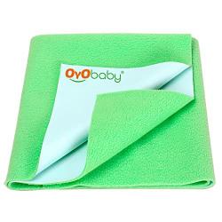 OYO BABY Waterproof Bed Protector Dry Sheet -Medium (Green)
