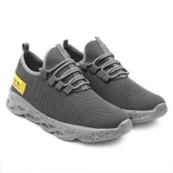 Tior Men's Grey Running, Cycling, Cricket Shoes-8 Kids UK (TB-681-Grey-8)