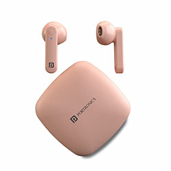 Portronics Harmonics Twins S2 Wireless Sports Earbuds Bluetooth 5.0 I Voice Assistant I 20 Hrs Playtime with Case I Type C Charging (Pink)