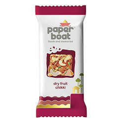 Paper Boat Dry Fruit Chikki, No Added Preservatives and Colours (Pack of 10, 25g Each)