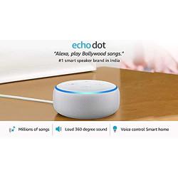 Echo Dot (3rd Gen) - #1 smart speaker brand in India with Alexa (White)