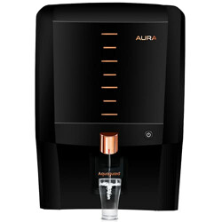 Aquaguard Aura RO + UV + UF + MTDS Water Purifier With Active Copper,Mineral Guard,UV e-boiling Technology with Ultra-Filtration (Black)