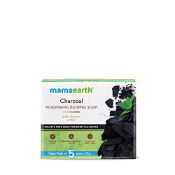 Mamaearth Charcoal Nourishing Soap With Charcoal and Mint for Deep Cleansing  5x75g