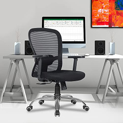 Green Soul Crystal Mid-Back Office Chair (Black)