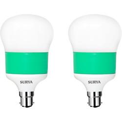 SURYA 12 W Globe B22 LED Bulb(White, Pack of 2)
