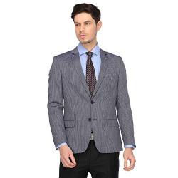 Arrow Men's Slim fit Blazer (AFXBZ5044_Blue_44 FS)