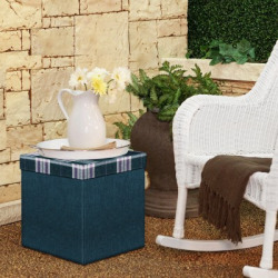 Story@home Living & Bedroom Stool(Blue, DIY(Do-It-Yourself))